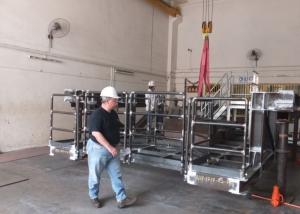 Fabrication of BOP skid access platform at our workshop-1